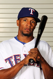 Surprise, AZ - February 28: Texas Rangers Photo Day - Julio Borbon Photographic Print by Jamie Squire