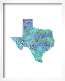 Typographic Texas Cool Art by  CAPow