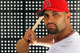 Tempe, AZ - February 29: Los Angeles Angels Photo Day - Albert Pujols Photographic Print by Jamie Squire