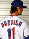 Surprise, AZ - February 28: Texas Rangers Photo Day - Yu Darvish Photographie par Jamie Squire