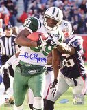 Jerricho Cotchery Catch and Run vs Patriots Autographed Photo (Hand Signed Collectable) Fotografía