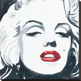Marilyn Monroe I Stretched Canvas Print by Irene Celic