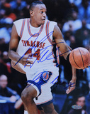 "John Wallace Syracuse Action w/ ""Go Orange"" Inscription Autographed Photo (Hand Signed Collectable) Photographie"