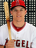 Tempe, AZ - February 29: Los Angeles Angels Photo Day - Maicer Izturis Photographic Print by Jamie Squire