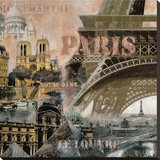 Paris II Stretched Canvas Print by John Clarke