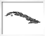 Typographic Cuba Prints by  CAPow