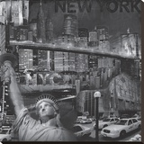 New York City VI Stretched Canvas Print by John Clarke