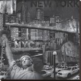 New York City VI Stretched Canvas Print by John Clarke