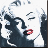 Marilyn Monroe II Stretched Canvas Print by Irene Celic
