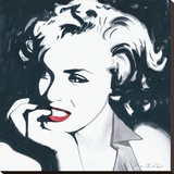 Marilyn Monroe III Stretched Canvas Print by Irene Celic