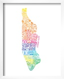 Typographic Manhattan Spring Prints by  CAPow