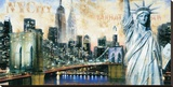 New York I Stretched Canvas Print by John Clarke