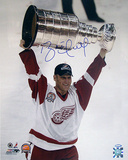 Brett Hull Red Wings 2002 Stanley Cup Overhead Vertical Photo