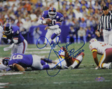"Joe Morris Leap Thru Middle Horizontal w/ ""NY Giants"" Inscription Photo"