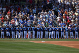 Surprise, AZ - March 12: San Francisco Giants v Kansas City Royals - Tim Lincecum Photographic Print by Christian Petersen