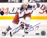 Scott Gomez Carrying Puck up Ice Autographed Photo (Hand Signed Collectable) Photo