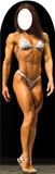 Muscle Woman Standin Silhouette en carton