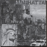New York City III Stretched Canvas Print by John Clarke