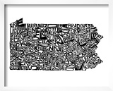 Typographic Pennsylvania Poster by  CAPow
