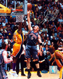 Jason Kidd Nets Grey Jersey Lay Up Vs. Kobe Autographed Photo (Hand Signed Collectable) Photo