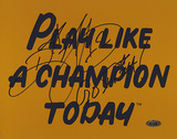 Ricky Watters Play Like A Champion Today w/ &quot;Go Irish&quot; Inscription Photo