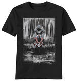 Captain America - Raining Black T-Shirt
