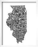 Typographic Illinois Posters by  CAPow