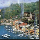 Portofino II Stretched Canvas Print by John Clarke