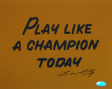 Lou Holtz Play Like A Champion Today Photo