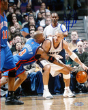 Jason Kidd Nets vs Marbury Single Signed by Kidd Photo