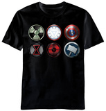 The Avengers - Straight Six T-shirts
