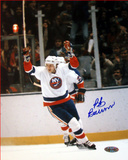 Bob Bourne Arms Raised Celebration Autographed Photo (Hand Signed Collectable) Photo