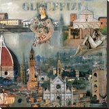 Firenze III Stretched Canvas Print by John Clarke