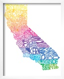 Typographic California Spring Prints by  CAPow