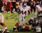 Ahmad Bradshaw Run 2012 NFC Championship Game Signed Horizontal Photo Photo