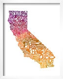 Typographic California Warm Art by  CAPow