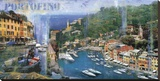 Portofino Stretched Canvas Print by John Clarke