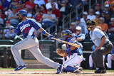 Surprise, AZ - March 09: Los Angeles Dodgers v Texas Rangers - Ron Washington Photographic Print by Christian Petersen