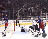 Scott Gomez Celebrating Goal vs Lightning Autographed Photo (Hand Signed Collectable) Photo