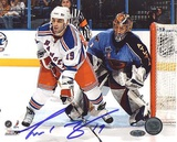 Scott Gomez Screening Goalie Photo Photo