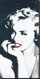 Marilyn Monroe V Stretched Canvas Print by Irene Celic