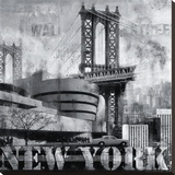 New York IX Stretched Canvas Print by John Clarke