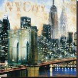 New York V Reproduction transférée sur toile par John Clarke