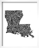 Typographic Louisiana Prints by  CAPow