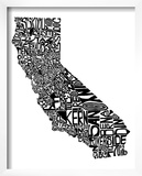 Typographic California Prints by  CAPow
