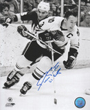 Pierre Pilote Chicago Blackhawks with 61 Cup Inscription Photo