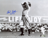 Bob Feller with HOF 62 Inscription Photo