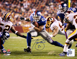 Tiki Barber Run vs. Redskins Autographed Photo (Hand Signed Collectable) Foto