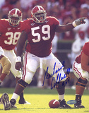 Antoine Caldwell Alabama Pointing At The Line Autographed Photo (Hand Signed Collectable) Fotografía