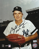 Gaylord Perry: New York Yankees Signed Picture with HOF 91 Inscription Photo